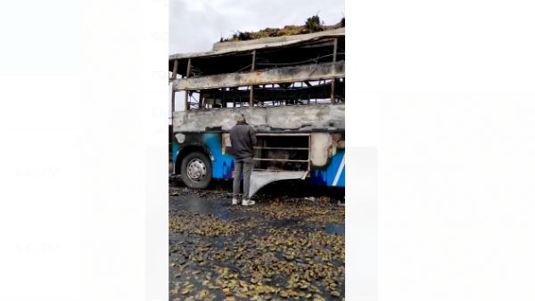 Private Bus Fire Disaster: Death Of Three Children And Two Women Of The Same Family
