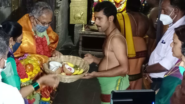 Kolar: Education Minister Visited Kurudumale Ganapa Temple
