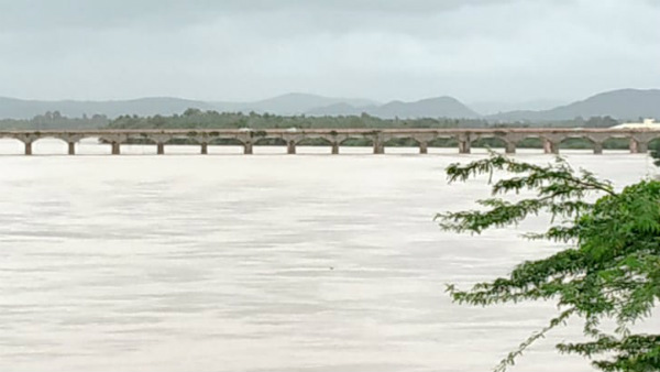 Davanagere; Tungabhadra River Of Honnali Range Overflowing