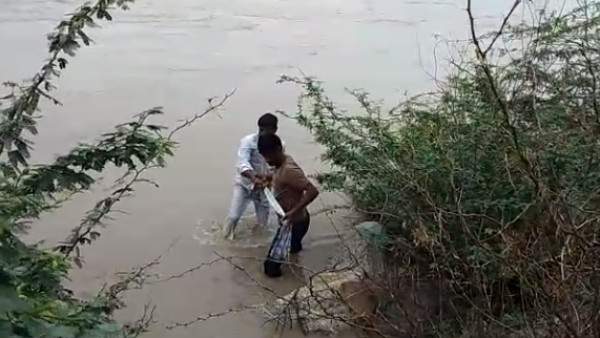 Ballari: Villagers Rescued Person Washed Away In Overflowing River Water