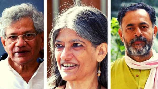 ದೆಹಲಿ ಗಲಭೆ: ಯೆಚೂರಿ, ಯೋಗೇಂದ್ರ ವಿರುದ್ಧ ಚಾರ್ಜ್ ಶೀಟ್