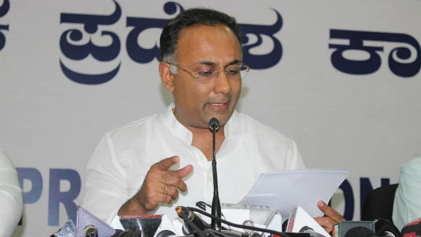 Congress MLA Dinesh Gundu Rao Tested Positive For COVID 19