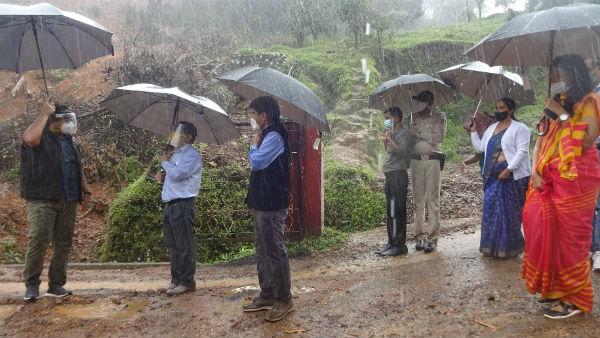 ಗಜಗಿರಿ ಬೆಟ್ಟ ಭೂಕುಸಿತ ಪ್ರದೇಶ ಪರಿಶೀಲಿಸಿದ ಕೇಂದ್ರ ತಂಡ