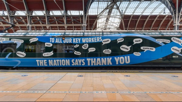 London Railway Saying Thanks In 116 Languages To Corona Warriors Including Kannada