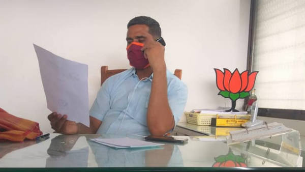 Kudachi BJP MLA P.Rajeev In Home Quarantine