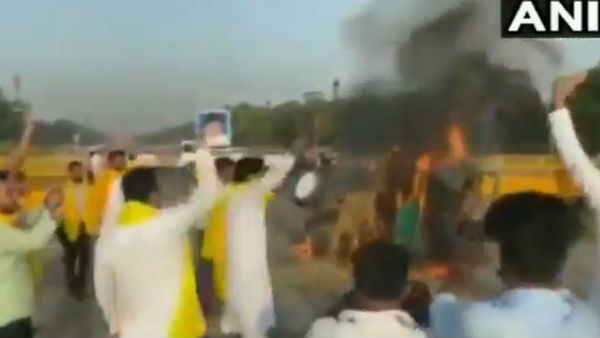 Tractor Set On Fire At India Gate In Delhi To Protest Against Agriculture Bills