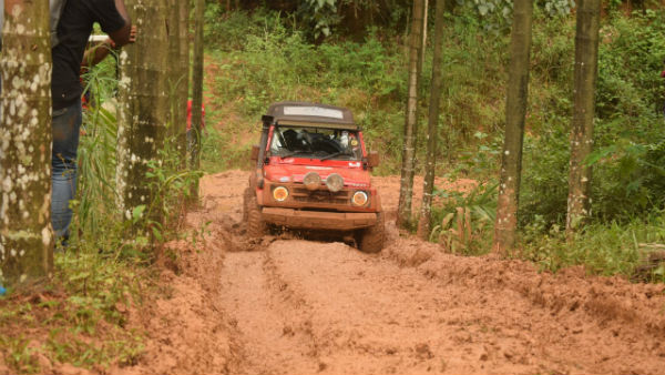 Jeep Rally Held In Chikkamagaluru District