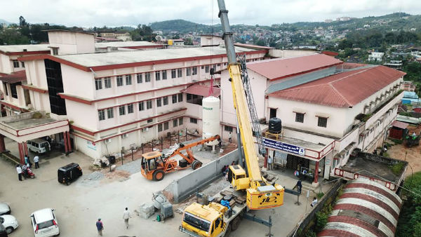 Kodagu Hospital Set Up Liquid Oxygen Cylinder Plant