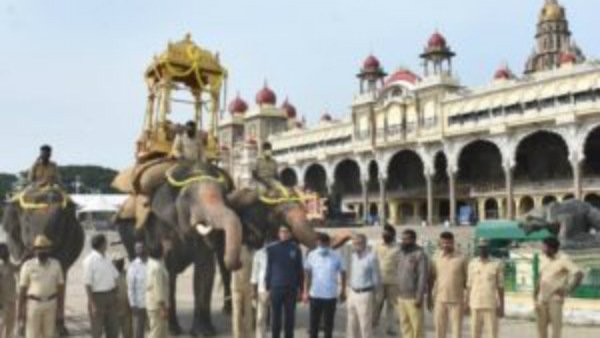 Mysuru Dasara: A Last Step Workout For Jamboosavari In Palace Outyard