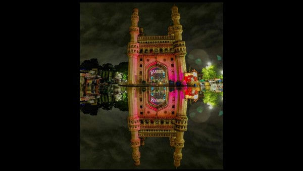 Rain Water Became Mirror For A Beautiful Charminar