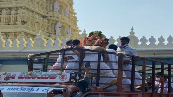 Mysuru Dasara: Chamundeshwari Devi Idol Arrived To Palace