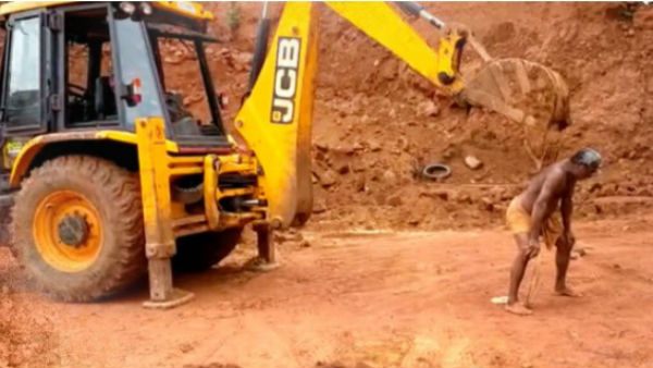 Man Uses JCB Excavator To Scratch His Back; Video Goes Viral