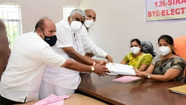 Sira By Election JDS Candidate Ammajamma Files Nomination