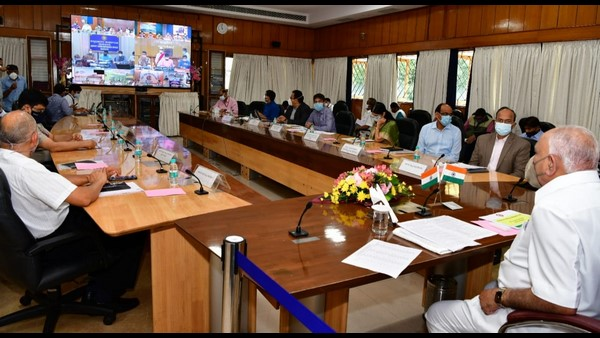 Yediyurappa Made Video Conference With Dcs Of Flood-affected Districts In The State