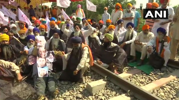 Kisan Mazdoor Sangharsh Committees Rail Roko Agitation Continues In Amritsar Against Farm Bill