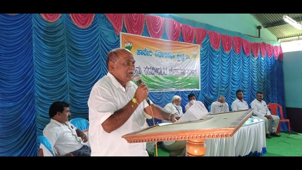 Haveri: Narendra Modi Did Not Create 2 Crore Jobs Every Year: HK Patil Allegation