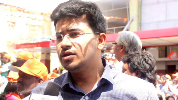 After Hyderabad University Visit BJPs Tejasvi Surya Charged With Trespass