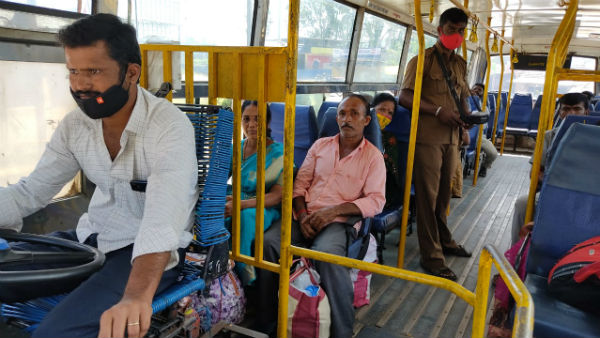 Transport employees strike Police Provide Escort To KSRTC Buses