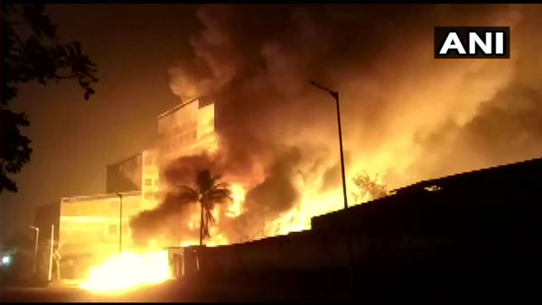 Fire Breaks Out At A Chemical Factory In Ahmedabad