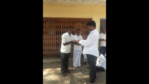 Money Distribution For Gram Panchayat President And Vise President Post