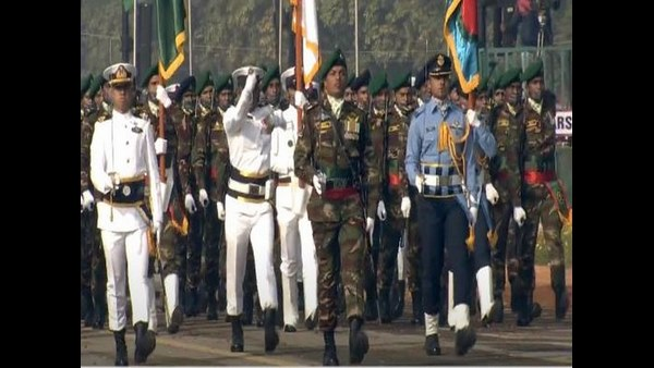 In A first, Bangladesh Tri-Service Contingent Takes Part In Indias Republic Day Parade