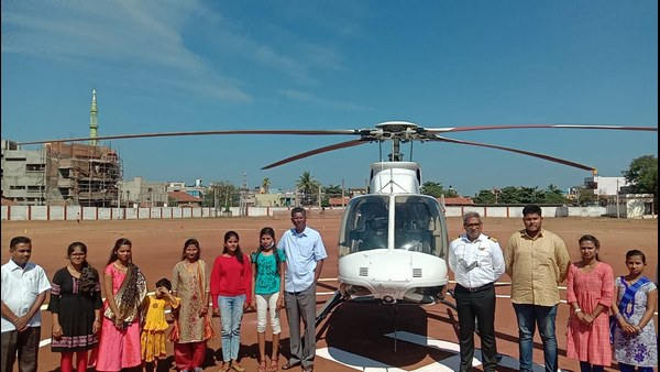 Essay Writing Competition Children Take Helicopter Ride