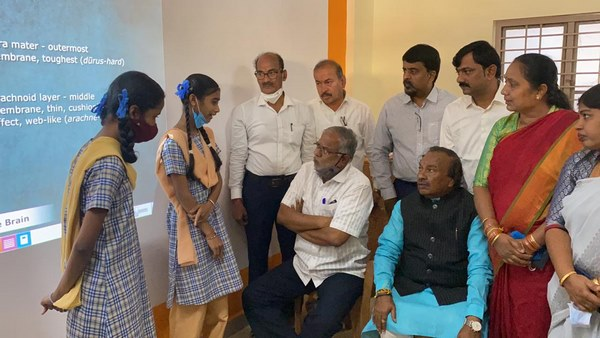 Shivamogga: Education Minister Sureshkumar Was Interacted With Students