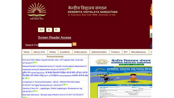 KVS Recruitment 2021 apply for 27 PGT and Various Post