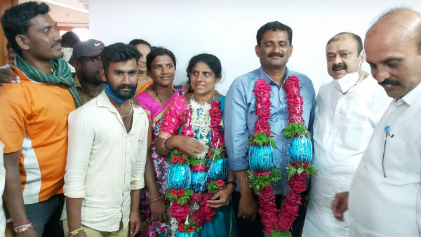 Mandya: Husband And Wife Who Won In The Gram Panchayat Election In KR Pete Taluk