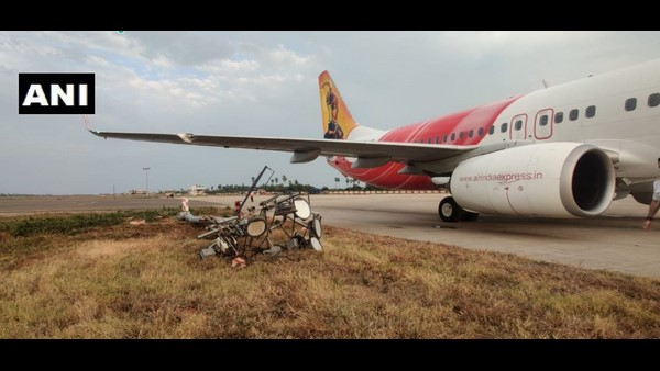 Air India Express Flight Hits Electric Pole At Vijayawada Airport, Passengers And Crew Safe