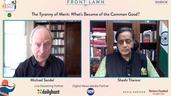 Jaipur Literature Fastival: Michael Sandel Conversation With Congress MP Shashi Tharoor