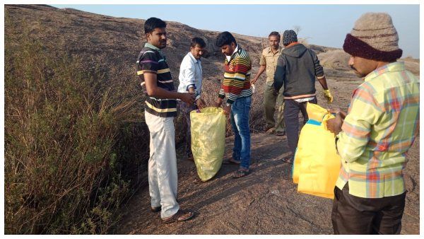 Trekking By Ramanagara CEO To Clean Tourist Place