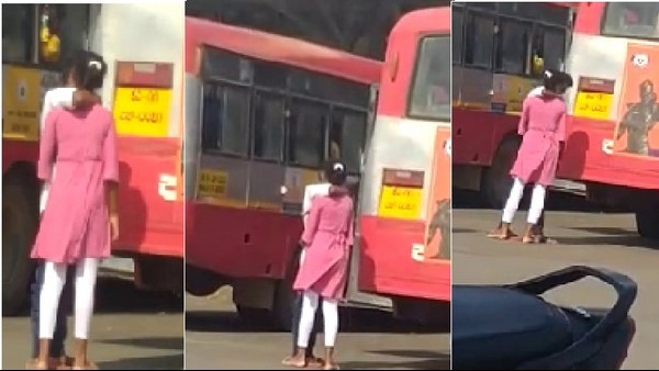 Mandya: KR Pete Bus Stand Youths Kissing Video Goes Viral In Social Media
