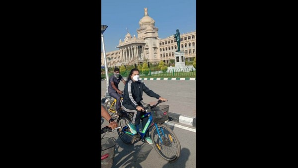 Bengaluru: Heritage Cycle Riding as part of Richard Sankey Birthday And World Water Day