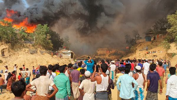 15 Dies In Fire Accident At Rohingya Camp In Bangladesh