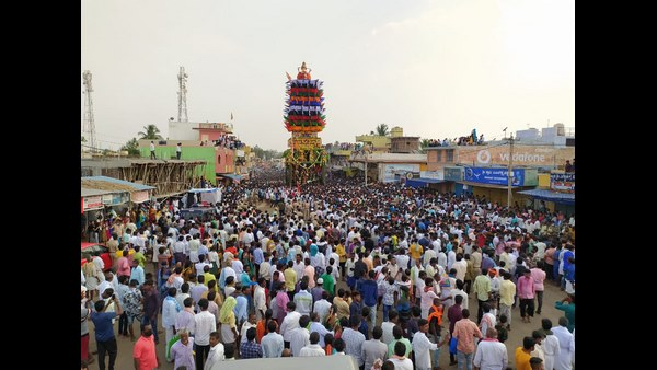Thousands Of Devotees Witnessed For Challakere Thipperudraswamy Jatre