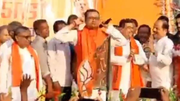 West Bengal Election: TMC leader Susanta Pal Sit-ups On Stage As He Joins BJP