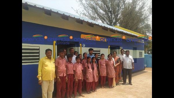 Hiriyuru Taluk Officials Praised Ambalagere Teacher Work after Oneindia Kannada Report