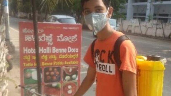 ದಾವಣಗೆರೆ: ಕೋವಿಡ್ ತಡೆಗೆ ಪಿಯುಸಿ ವಿದ್ಯಾರ್ಥಿ ಸಮಾಜಮುಖಿ ಕಾರ್ಯ