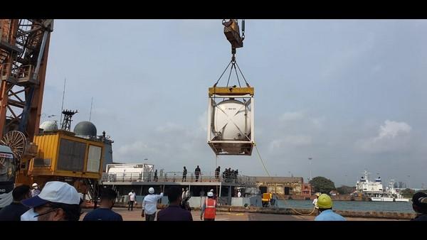 ಬಹ್ರೇನ್ನಿಂದ ಮಂಗಳೂರಿಗೆ ಬಂದ 40 ಮೆಟ್ರಿಕ್ ಟನ್ ಆಕ್ಸಿಜನ್