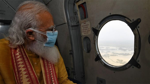 ಯಾಸ್ ಚಂಡಮಾರುತ: ಒಡಿಶಾ, ಪಶ್ಚಿಮ ಬಂಗಾಳದಲ್ಲಿ ವೈಮಾನಿಕ ಸಮೀಕ್ಷೆ ನಡೆಸಿದ ಮೋದಿ
