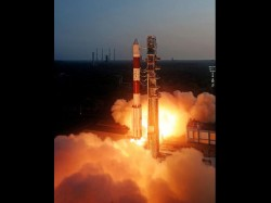 Narendra Modi In Sriharikota Witness Pslv C 23 Launch 085721 Pg