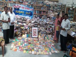 Ankegowda Arranges Sarvajna Books Exhibition In Mandya