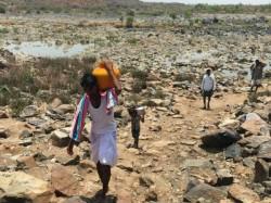 Drought Neelakanta Rayana Gaddi Island And Krishna River