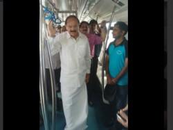 Union Minister Venkaiah Naidu Namma Metro Bengaluru