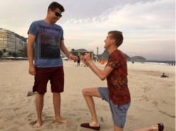 Gay Olympian Tom Bosworth Asks Boyfriend Marry Him On Beach Rio