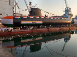 Submarine Khanderi Launched In Mumbai