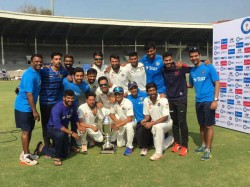Irani Cup Wriddhiman Saha S Double Ton Helps Rest India Clinch Trophy