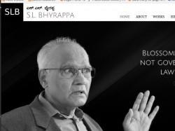 Kannada Novelist Sl Bhyrappa Website Beta Version Launched