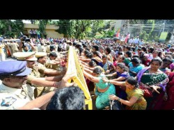 Anganwdi Workers Protest Against Government Full Traffic Jam